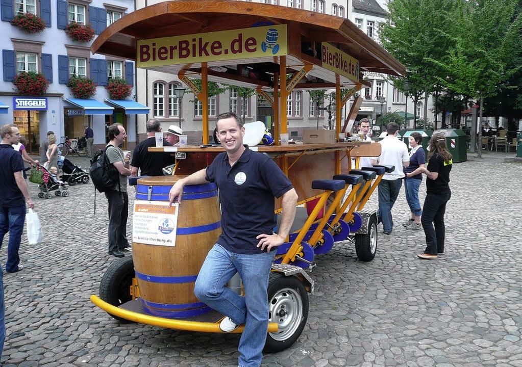Geschäftsführer Patrick Merten, Bierbike Freiburg  | Foto: privat