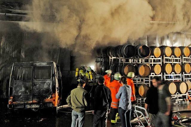 Keine Brandstiftung beim Weingut Waßmer