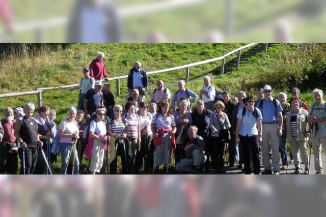 Französische Wanderdelegation im Bernauer Tal