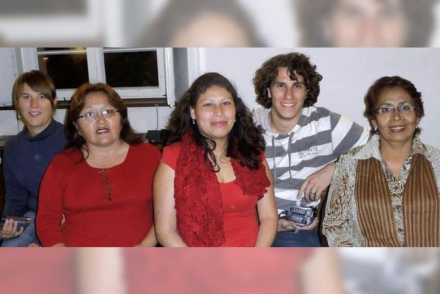 Ein Erntedankfest im Zeichen der Besucherinnen aus Peru