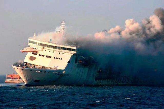 Großbrand auf Ostsee-Fähre