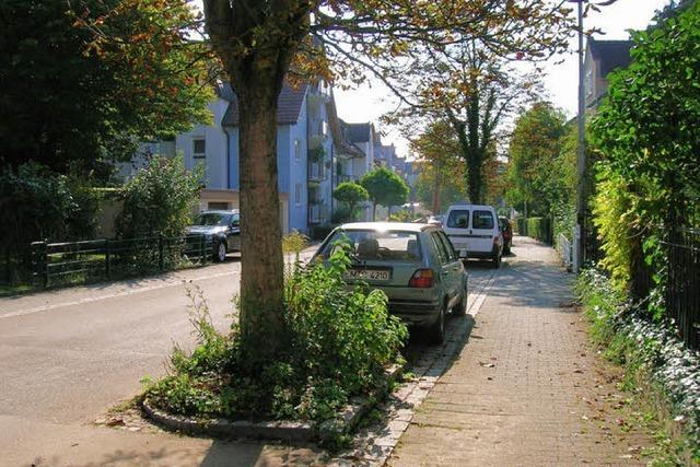 Baustellenverkehr in der Wohnstraße