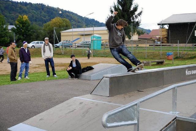 Skater fahren auf die Anlage nicht ab