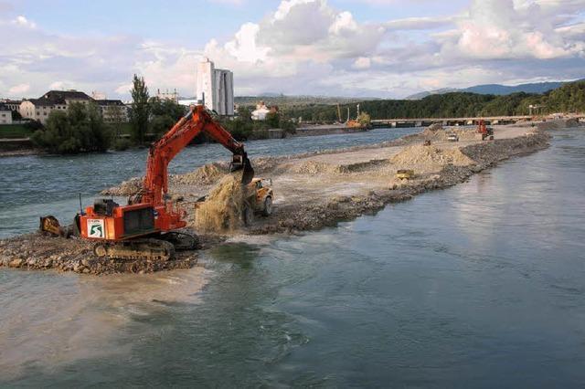 Der Rheinpegel steigt fürs neue Kraftwerk
