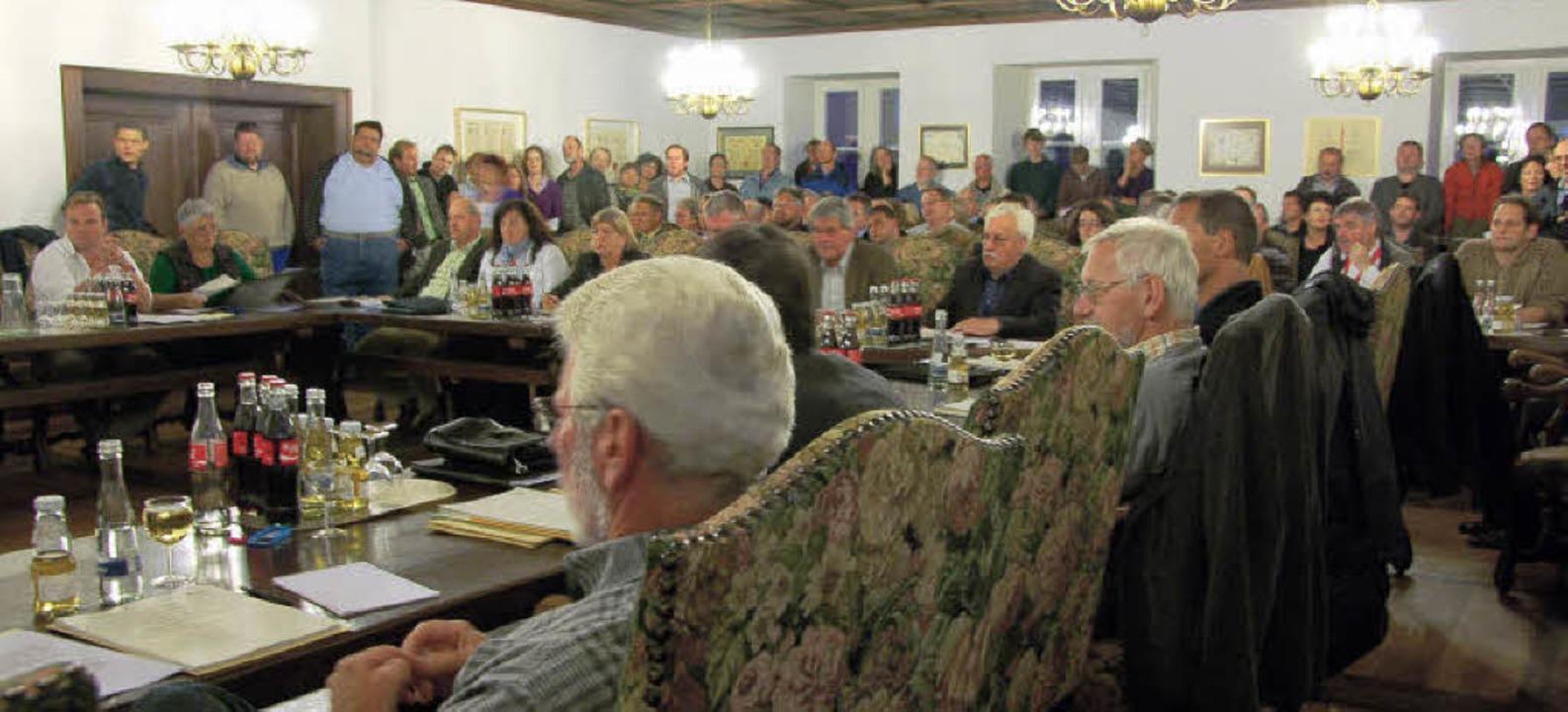 Gemeinderatssitzung in Wehr zur Funkmast-Erklärung  | Foto: Michael Krug