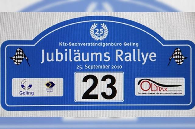 Jubiläumsfeier mit Rallye und Erlkönig
