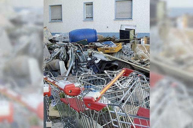 Müllberg in der Sofienstraße verschwindet