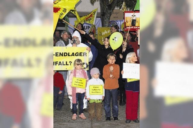 Viel Protest gegen Atomendlager