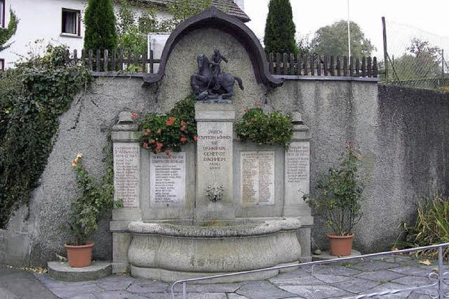 Das Kriegerdenkmal ist das größte Anliegen