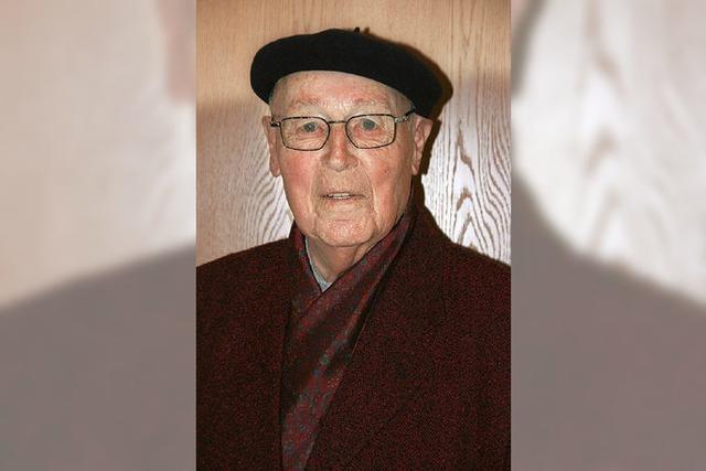 Artur Riesterer ist 90 Jahre alt