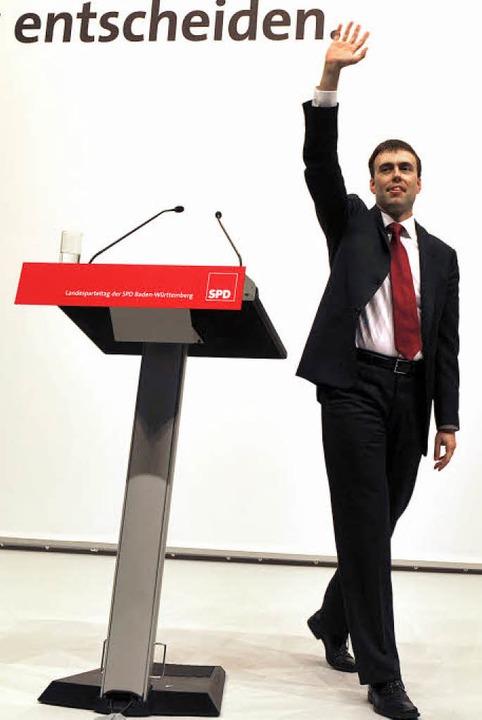 """""""Ich freue mich, Euer Ministerpräsident zu sein"""": Kandidat Schmid    Foto: dpa"""