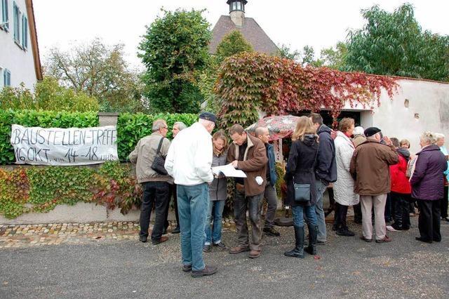 200 Interessierte beim Baustellentreff der Bürgerinitiative auf dem Münsterberg