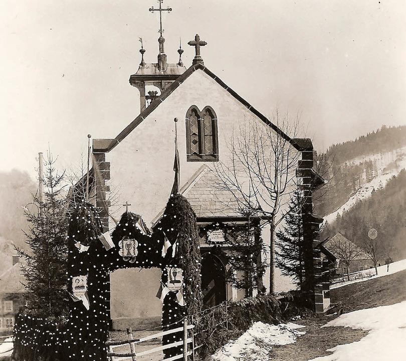 Die Brandenberger Kapelle im Jahre 193...ro> Benno Dörflinger</BZ-FotoNurRepro>  | Foto: Dörflinger