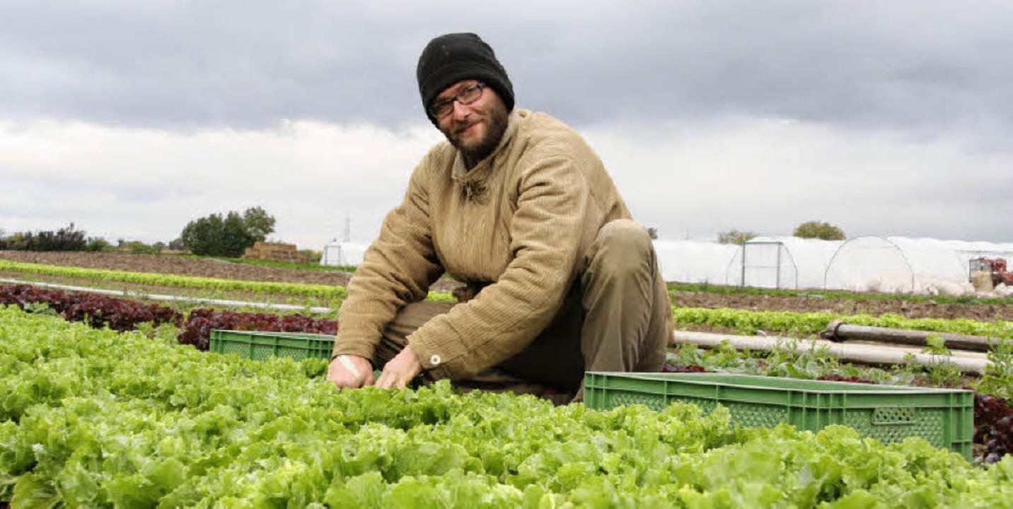 Lukas Friedrich (27)  aus Freiburg, de...eg in den Gärtnerberuf geschafft hat      Foto: Faller