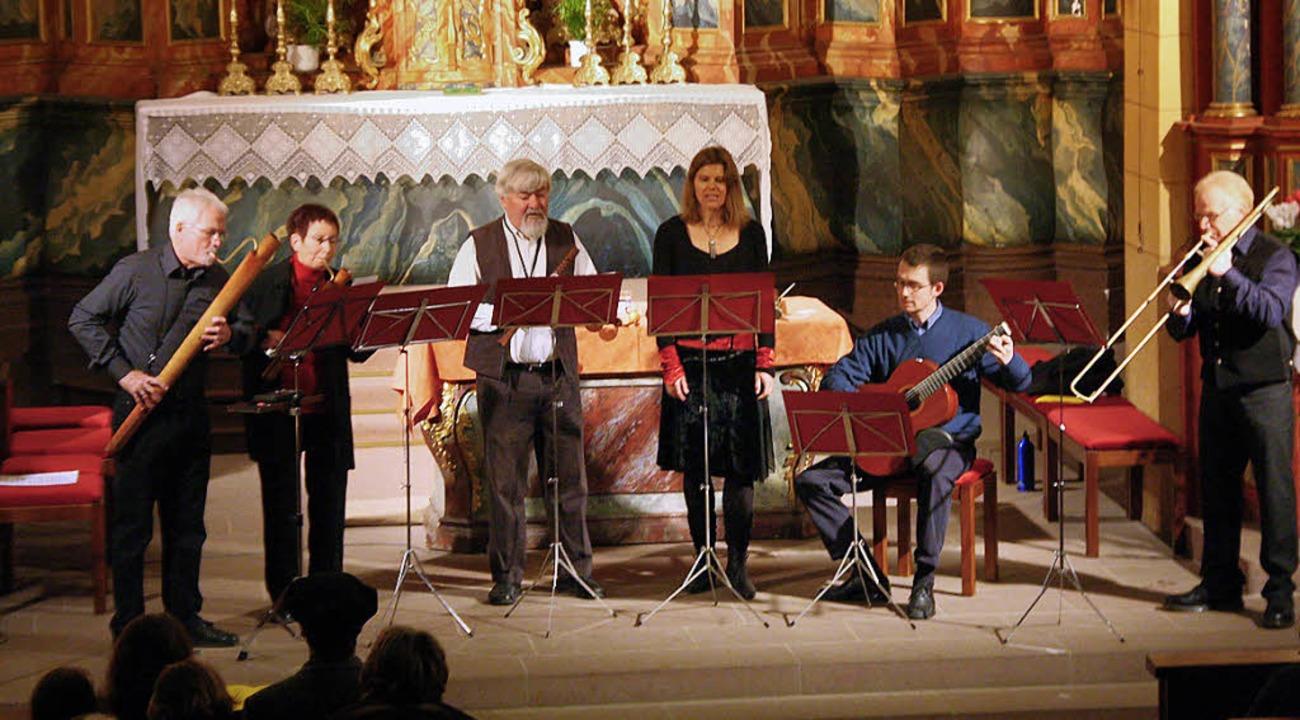 Das auf Renaissancemusik spezialisiert...onzert in der Klosterkirche Oberried.   | Foto: Hans Jürgen Kugler