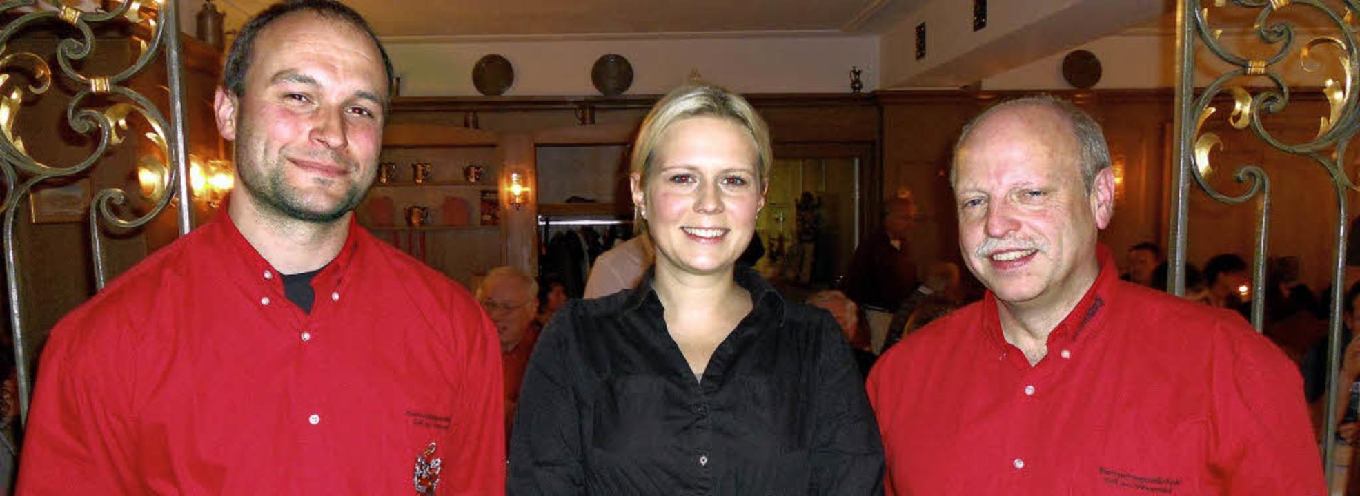 FGZ-Präsident Peter Mauthe (rechts) mi...hleith und Schatzmeister Thomas Mond.   | Foto: Paul Berger