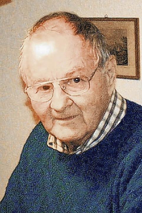 Hans Ruppaner, Rektor a. D. und Alt-Gemeinderat, starb im Alter von 83 Jahren.    | Foto: Huber