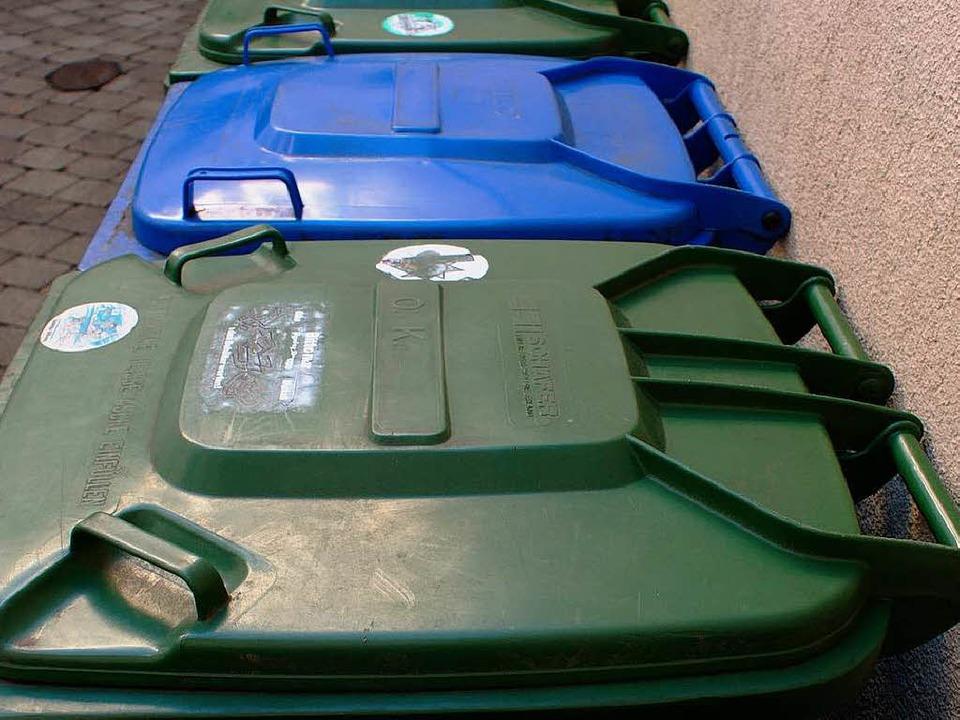Die Gebühren für die Müllabfuhr sinkem im kommenden Jahr    Foto: hans-jürgen truöl