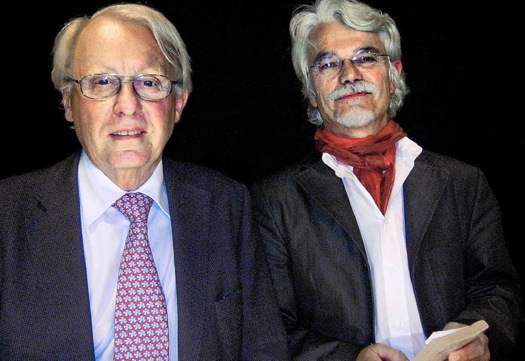 Hebel-Experten: Markus Manfred Jung (rechts) und Hans-Martin Gauger  | Foto: anne freyer