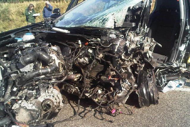 Schwerer Verkehrsunfall auf der B31 bei Kirchzarten