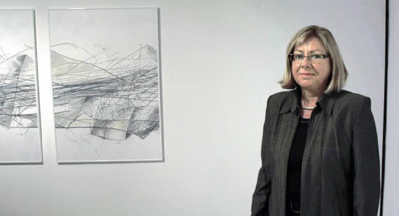 Marianne Maul zeigt ihre Zeichnungen im Kunstforum Hochschwarzwald.   | Foto: Marion Pfordt