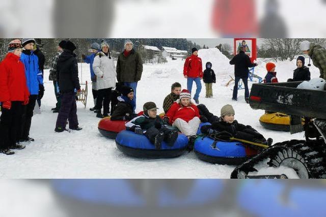 Mit viel Spaß garnierter Wintersport
