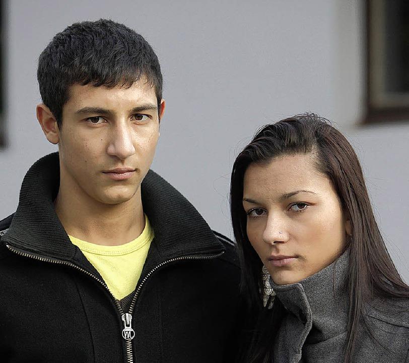 Gzim Tatari und seine Schwester Belkiza  | Foto: Christoph Breithaupt