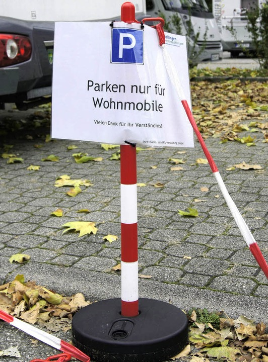 Vor Feiertagen und am Wochenende ist d...tzlich Autostellplätze für Wohnmobile.  | Foto: Barbara Schmidt