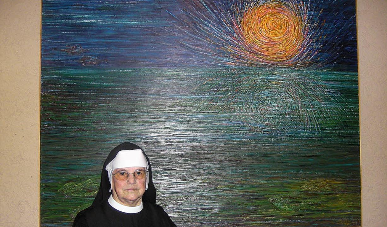 Schwester Immolata Meyen und ihr leuchtendes Werk   | Foto: Verena Wehrle