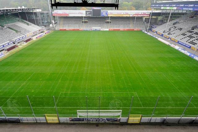 Freiburger Badenova-Stadion in Google Street View
