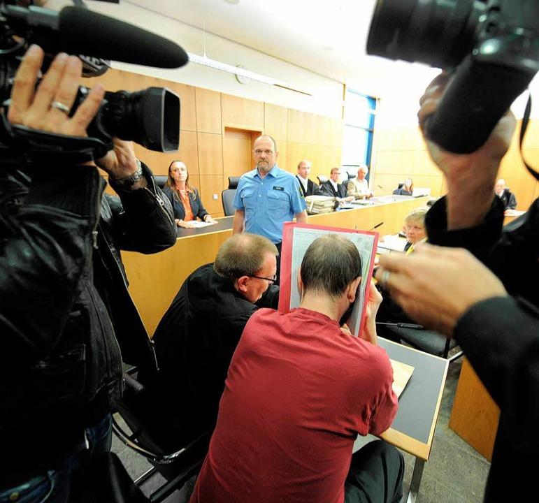 Einer der neun Angeklagten    Foto: dapd