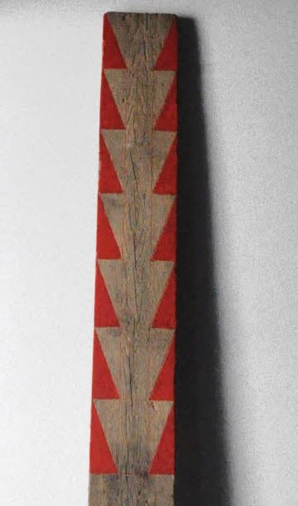 Schlank und lang: Rote Figur,  eine Holzskulptur von Max Meinrad Geiger  | Foto: Barbara Ruda