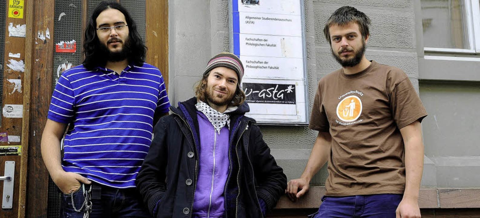 Der neue U-Asta (von links): Thomas Seyfried, David Koch und Vincent Heckmann   | Foto: thomas kunz