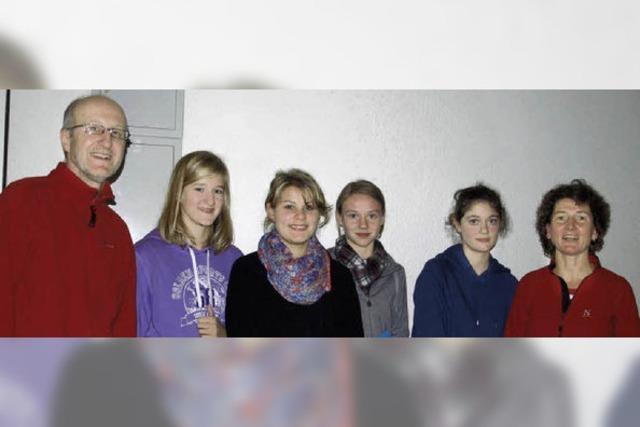 Jugendliche auf Pilgertour