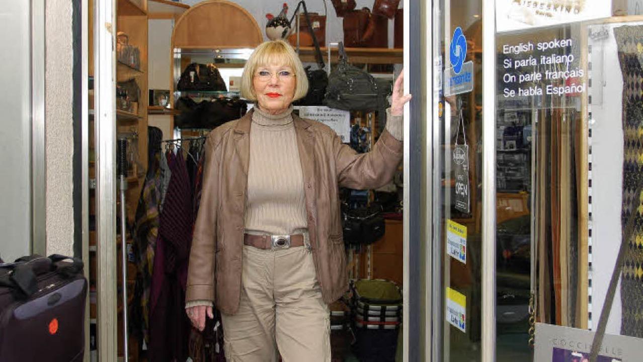 Am 31. Dezember schließt Gisela Heuser...-Geschäft  am Schlossplatz für immer.   | Foto: W. Beck