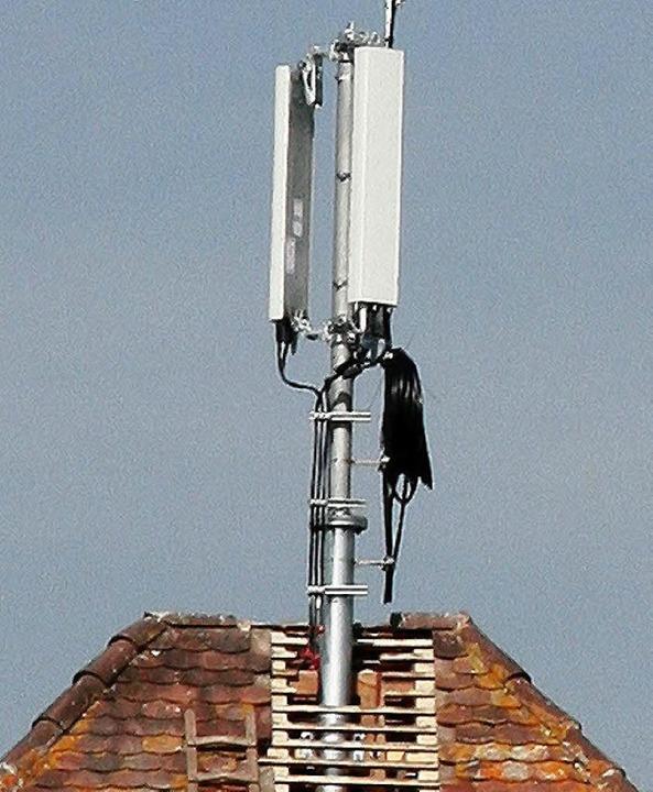 Lieber einen Funkmast-Standort zulasse...en Dächern, mein Zells Bürgermeister.   | Foto: BZ