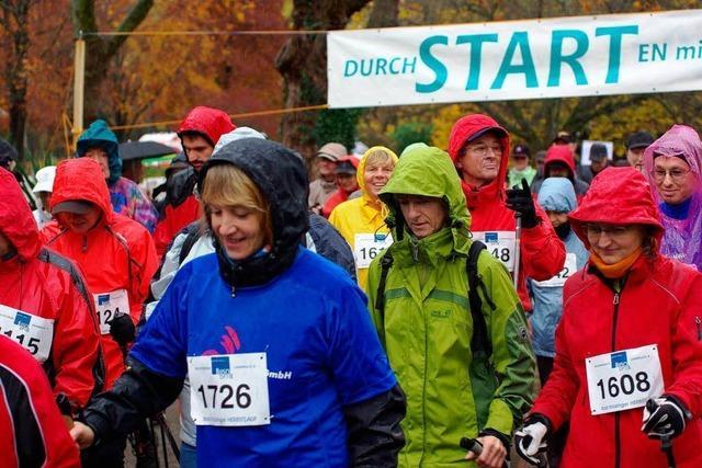 Läufer trotzen Novemberregen