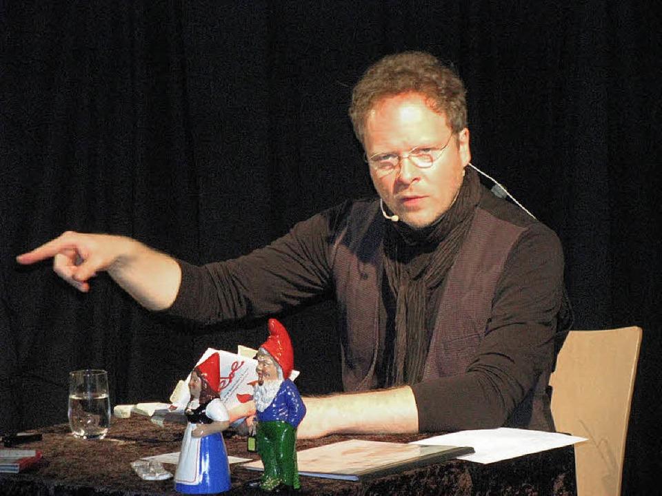 Sven Görtz widmete seinen Auftritt anl...age in der Mediathek dem Thema Liebe.   | Foto: Michael Gottstein