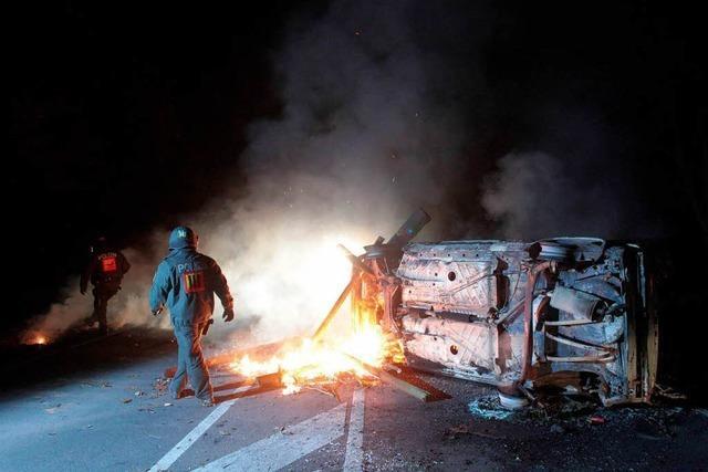 Blockade aufgelöst – Castor-Transport in Dannenberg