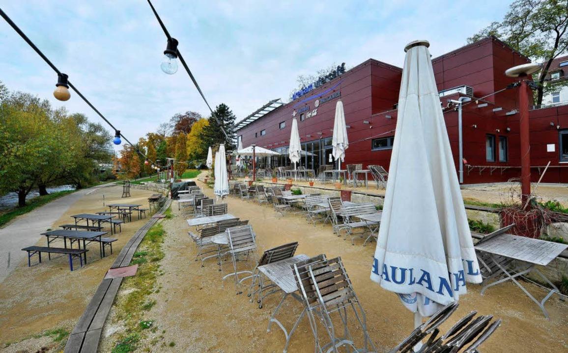 Derzeit geschlossen: das Dreisamufer-Café  | Foto: Michael Bamberger