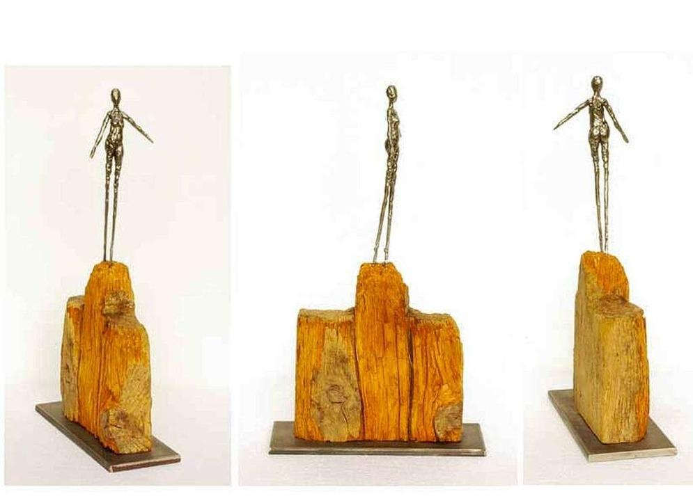 Skulptur aus Holz und Metall, Mindestgebot 150 Euro  | Foto: BZ