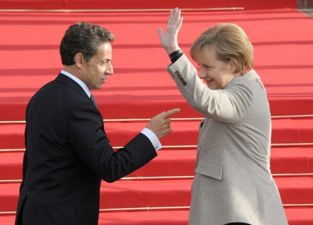 Der französische Präsident Nicolas Sar...Treffen findet wohl im Breisgau statt.    Foto: dpa