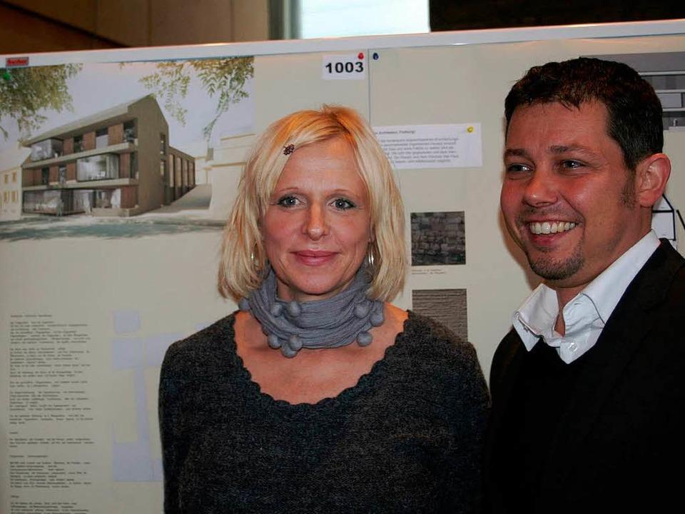 Das Freiburger Architektenpaar Silke D...at den Architektenwettbewerb gewonnen.  | Foto: Elisabeth Jakob-Kölblin