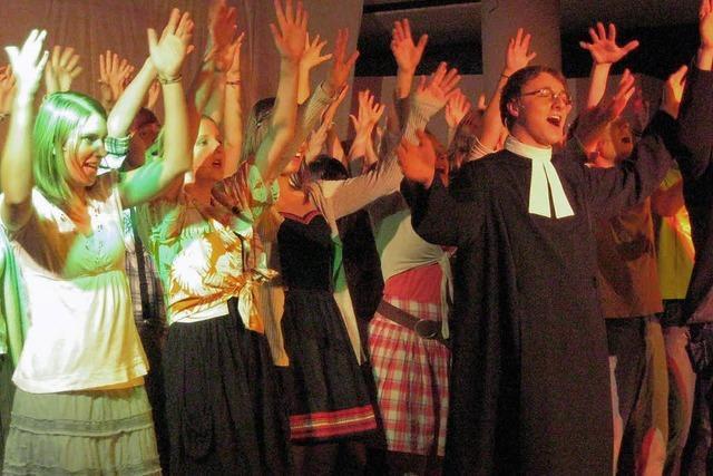 """Premiere des Musicals """"Footloose"""" im Albert-Schweitzer Gymnasium"""