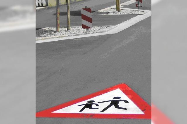 Engere Fahrbahn für die Sicherheit