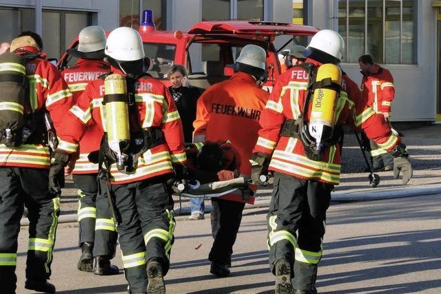 Eichstetter Feuerwehr meistert Übungseinsatz