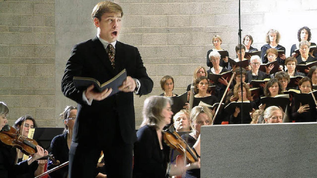 Hanno Müller-Brachmann war der eindrüc...er Aufführung des Deutschen Requiems.   | Foto: R. Frey