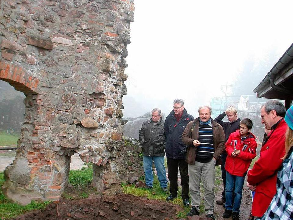 Vororttermin auf der Burg Hohengeroldseck  | Foto: Heidi Foessel