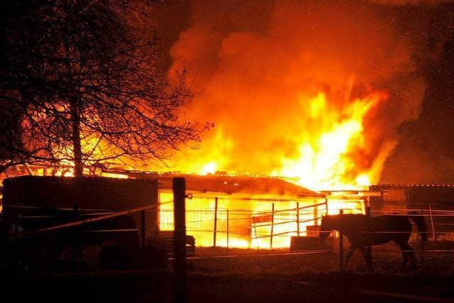 Sommerstall in Vögisheim brennt nieder