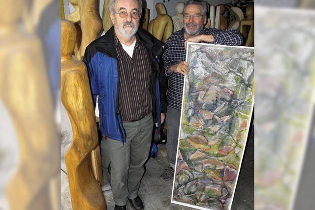 Holzskulpturen und Expressionistisches